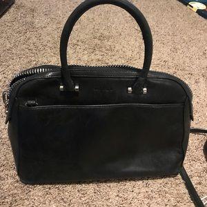 Milly Black leather handbag